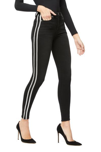 GOOD LEGS ATHLETIC STRIPE | BLACK064