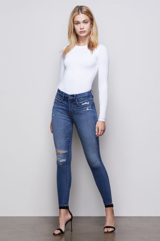 GOOD LEGS CROP | BLUE377