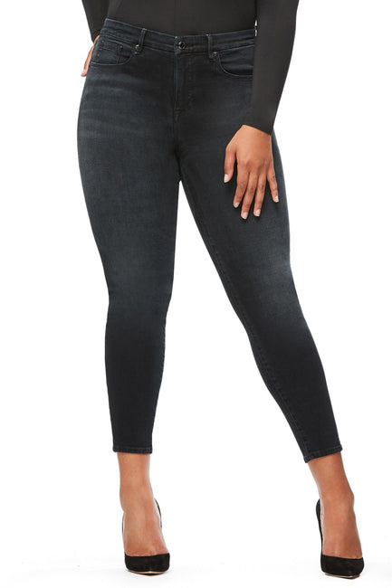 Good American High Waisted Crop Blue196 Jeans