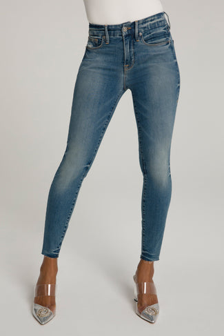 GOOD LEGS CROP RAW EDGE | BLUE473