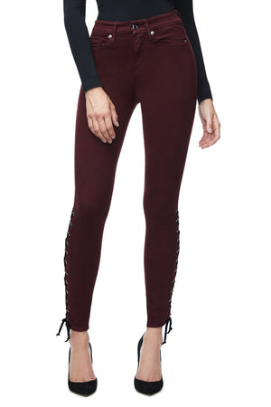GOOD LEGS LACE UP | BURGUNDY001