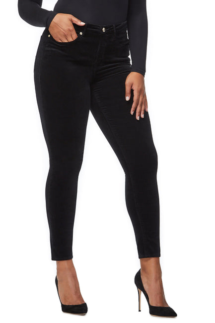 Good American High Waisted Velvet Black038 Jeans