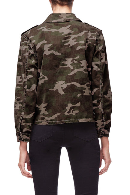 Good American The Military Jacket | Camo001