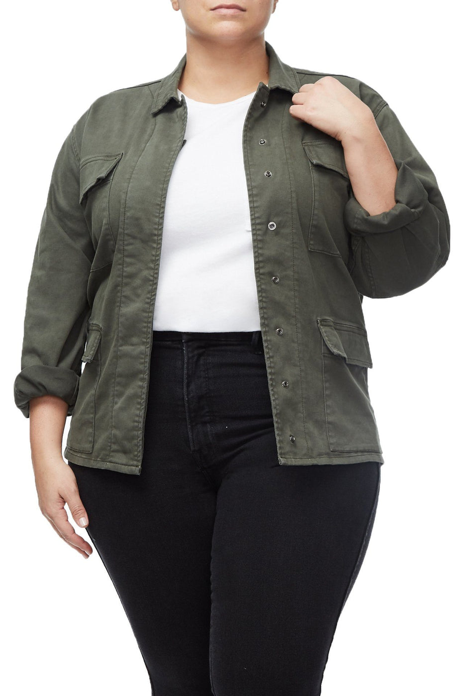THE GIRL ON THE GO JACKET | OLIVE006