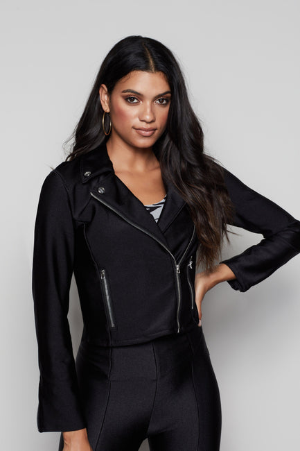 THE REBEL DISCO MOTO JACKET | BLACK001
