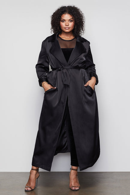 THE SATIN TRENCH | BLACK001