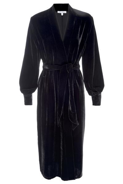 THE LUXE VELVET ROBE | BLACK001