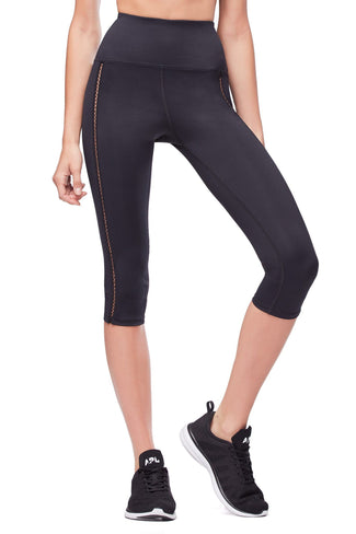 THE CURVE SCULPT CAPRI LEGGING | BLACK001