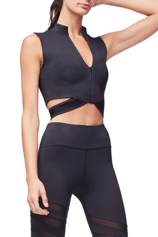 THE BREAK THROUGH CROP TOP | BLACK001