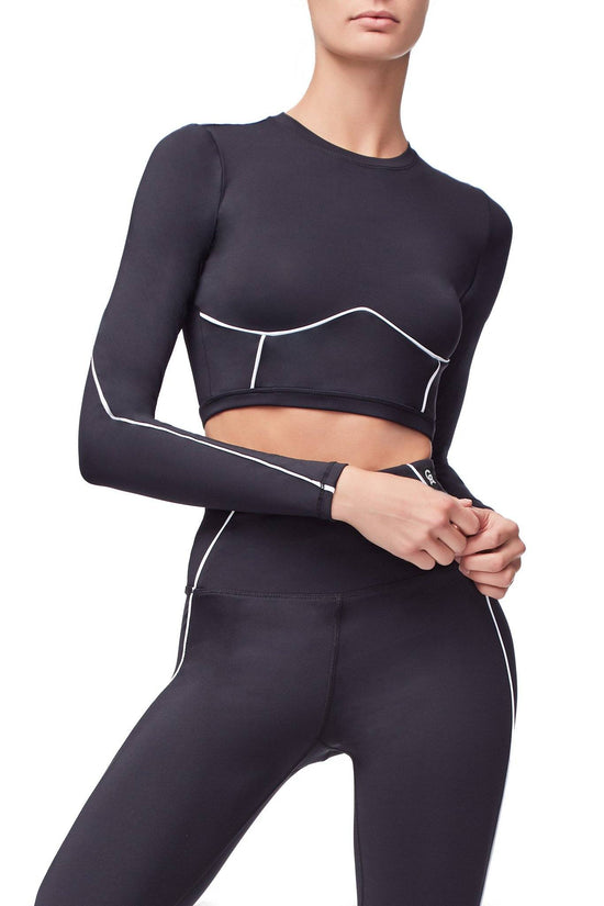 THE ELECTRIC FEEL CROP TOP | BLACK001