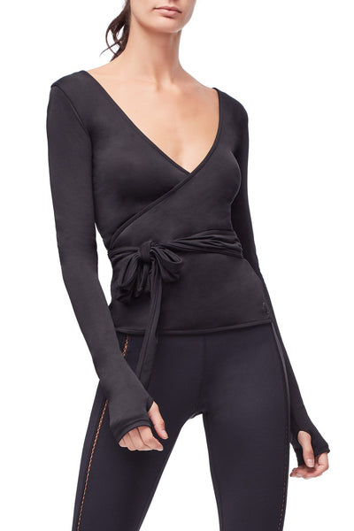 THE EN POINTE WRAP TOP | BLACK001