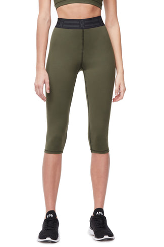 THE ICON CAPRI LEGGING | OLIVE002