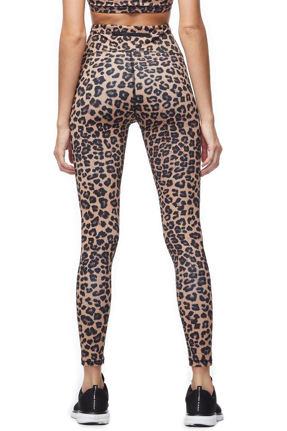 Good American High Waisted Core Strength Legging Leopard001