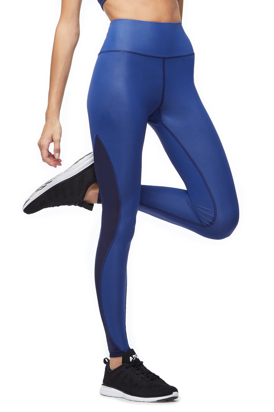 Good American High Waisted Power Legging Blue001