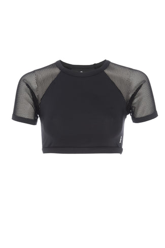 MESH CROP TOP | BLACK001