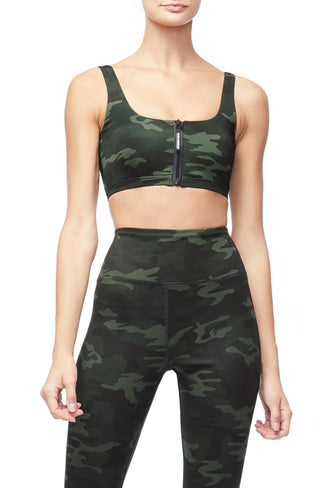THE ZIP-UP SPORTS BRA | CAMO001