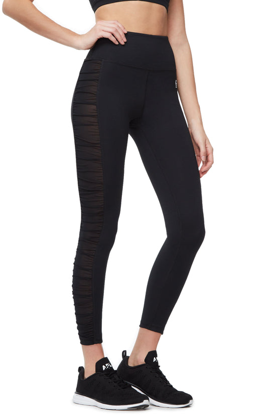 THE RUCHED 7/8 LEGGING | BLACK001