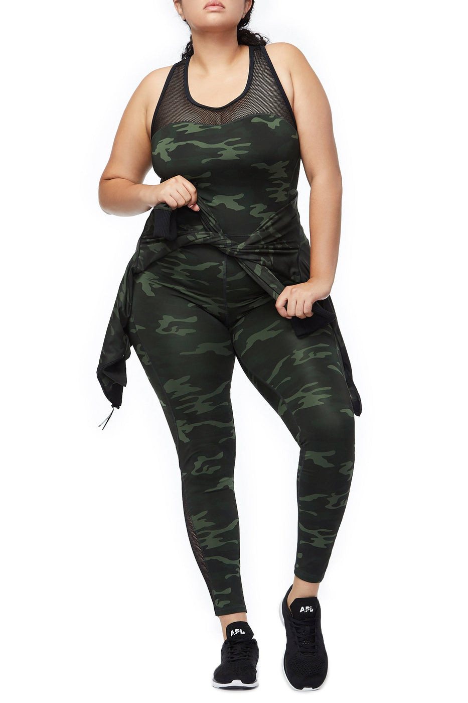 Good American The Curve Sculpt Jumpsuit | Camo001