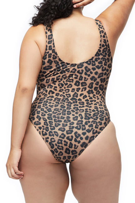 Good American The Leotard | Leopard001