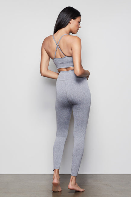 THE SEAMLESS FIT SPORTS BRA | HEATHER GREY001