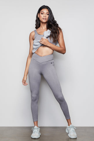 2034607105877 ... THE CUTAWAY 7/8 LEGGING | HEATHER GREY001