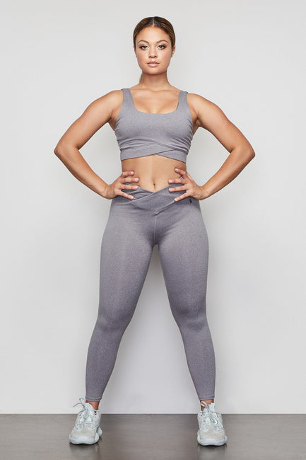 THE CUTAWAY 7/8 LEGGING | HEATHER GREY001
