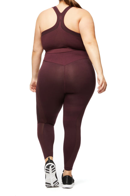 THE KNOCKOUT SEAMLESS LEGGING | BORDEAUX001