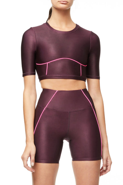 THE ELECTRIC FEEL CROP TOP | BORDEAUX001