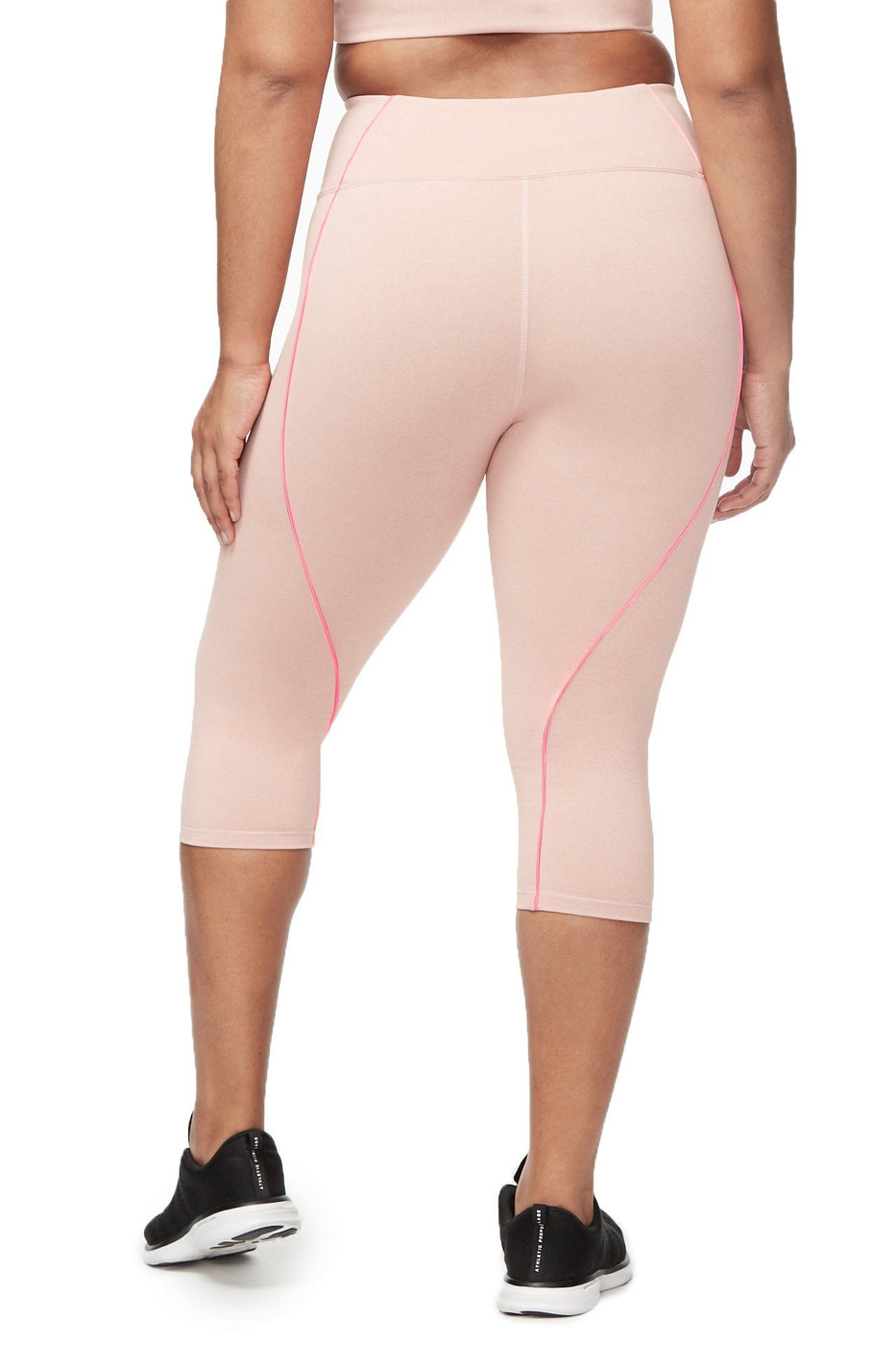 THE ELECTRIC FEEL CROP LEGGING | HEATHERED PINK001