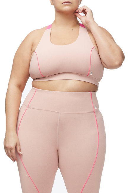 THE CORE POWER SPORTS BRA | HEATHERED PINK001
