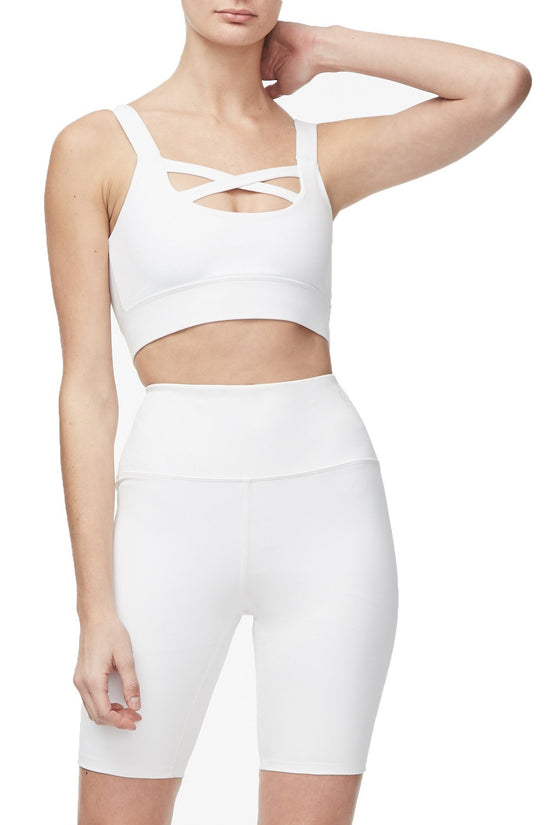 THE CROSS FRONT SPORTS BRA | WHITE001