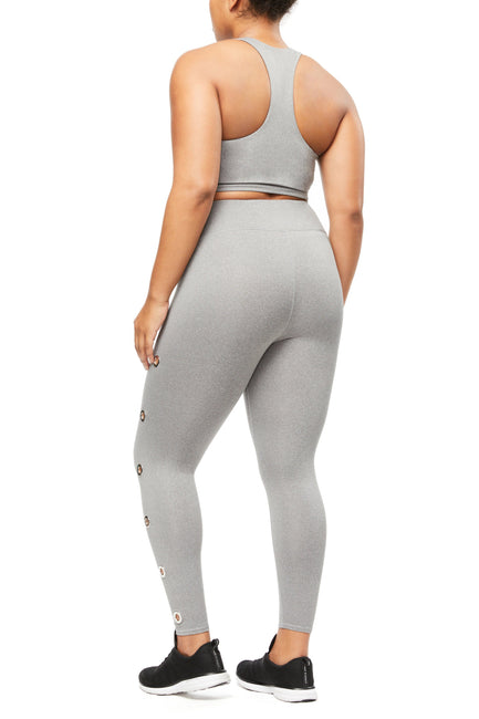 TAKE CHARGE CROP LEGGING | HEATHER GREY001