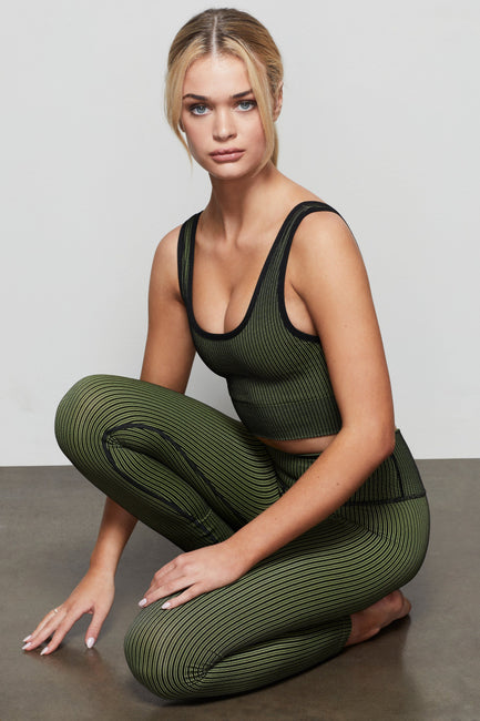 THE SEAMLESS RIBBED LEGGING | SUN BEAM002