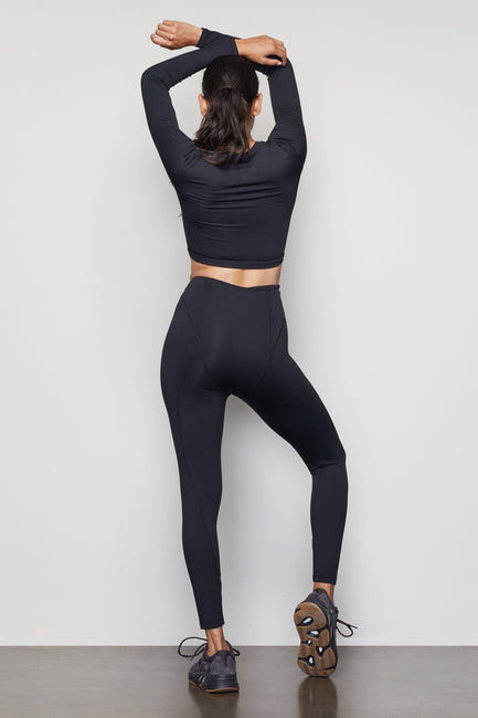 THE WARRIOR ZIP 7/8 LEGGING | BLACK001