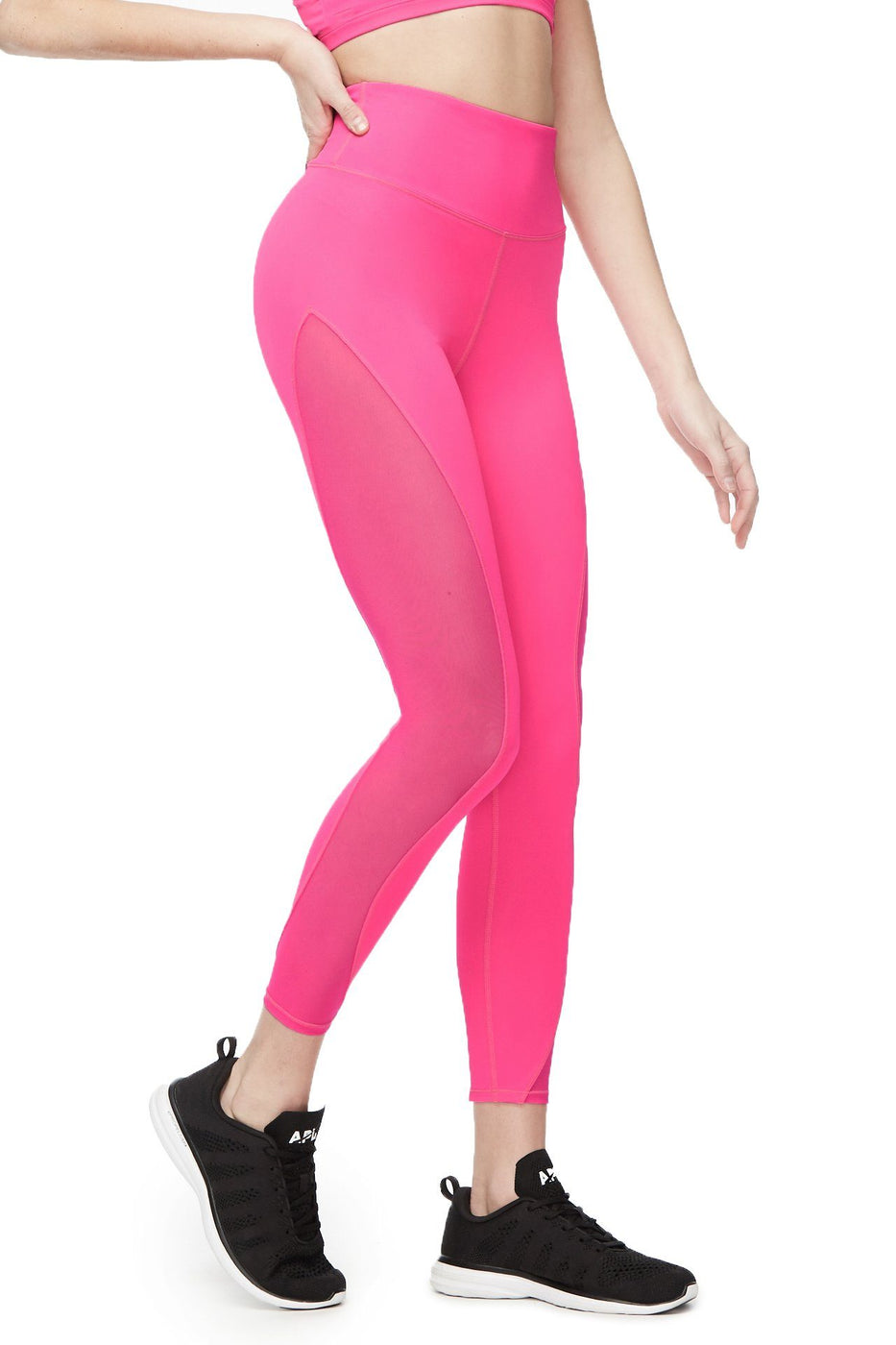 THE MESH 7/8 LEGGING | NEON PINK001