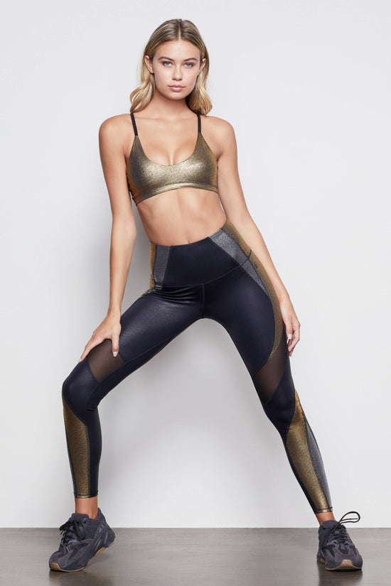 THE METALLIC CURVE LEGGING | MIXED METAL001