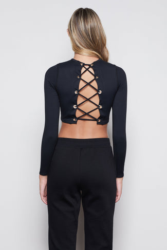 THE ALL TIED UP TOP | BLACK001