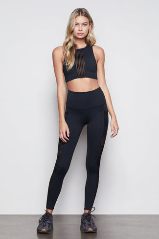 THE KEEP UP DOTTED LEGGING | BLACK004