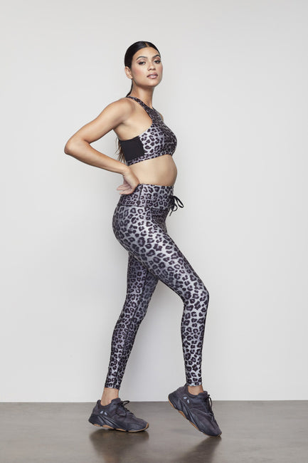 THE CINCHED WAIST 7/8 LEGGING | SNOW LEOPARD001