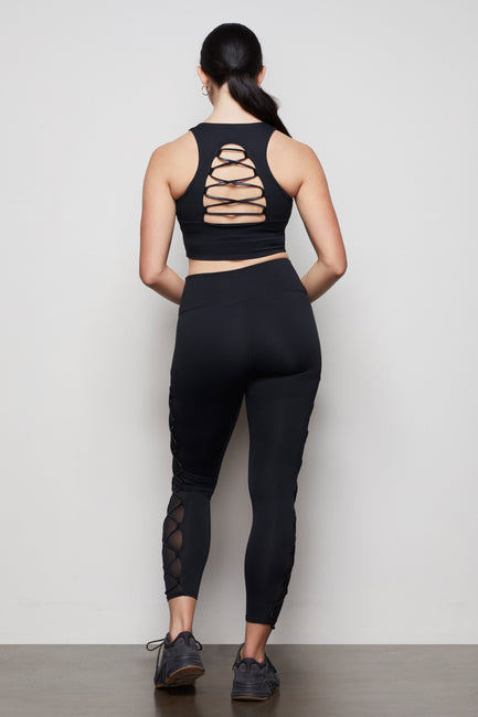 THE CRISS CROSS LEGGING | BLACK001