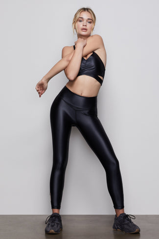THE ELITE LIQUID CROSS-OVER LEGGING | BLACK001