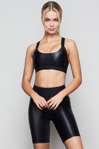 MIDNIGHT SHINE BRA | BLACK001