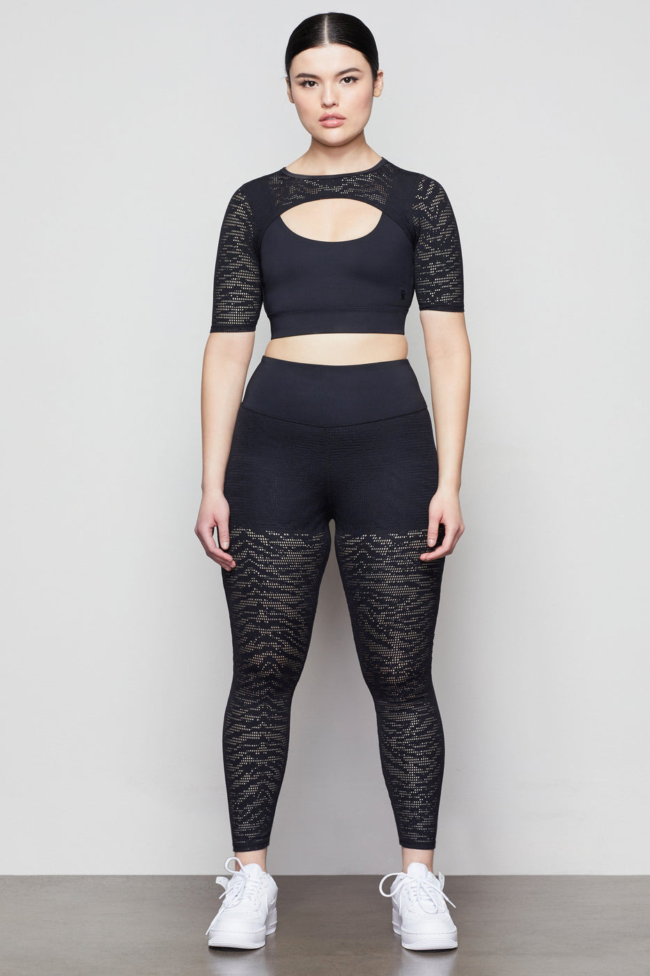 MIDNIGHT MESH LEGGING | BLACK001
