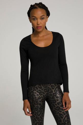 KNOTTED BACK TOP | BLACK001