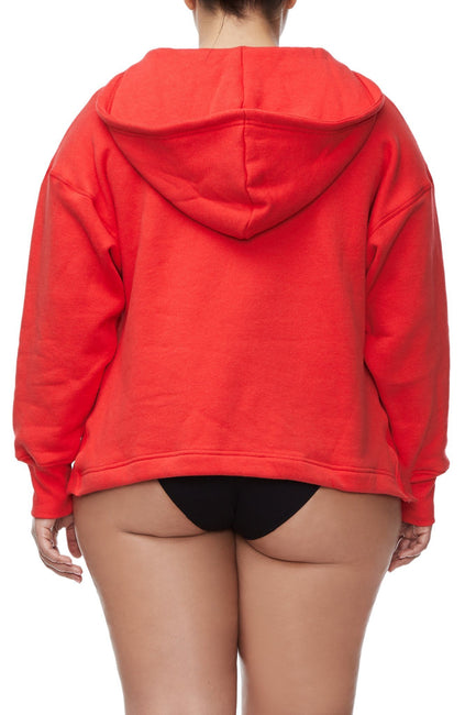 THE LACE UP HOODIE | RED001