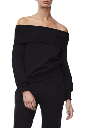 THE COLD SHOULDER SWEATER | BLACK001