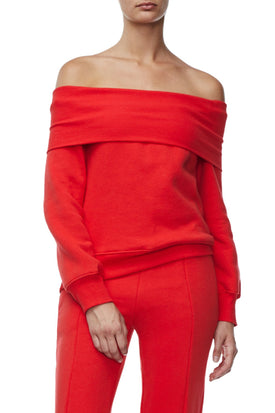 THE COLD SHOULDER SWEATER | RED001