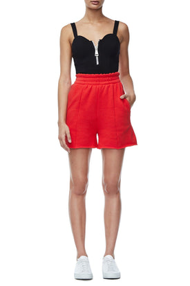 THE HIGH WAIST SHORTS | RED001