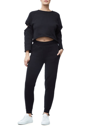 THE CUT-OUT CROP TOP | BLACK001