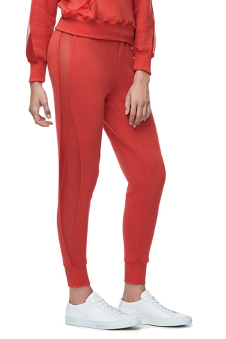 THE MESH PANEL SWEAT PANT | RED001